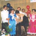 Photo of Milagros being crowned Queen