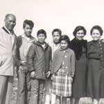 Photo of the Salutan Family at Point Sal Ranch in 1959