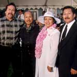 Photo of Victor, Jimmy, and Eddie Salutan and Rosalie Marquez